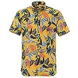 GYH Camisa para Hombre Hawaii Imprimir Camisa de Manga Corta Botón de la Playa de Los Hombres Camisa Casual Saco/H/M