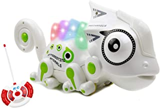Toysery Color Changing Remote Control Chameleon Toy with Multi Colored Led Lights, Durable Rc Toys for Children, Adorable ...