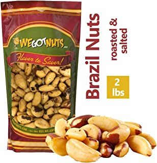 We Got Nuts Dry Roasted Salted Brazil Nuts 2 Lb Bag, No Oil