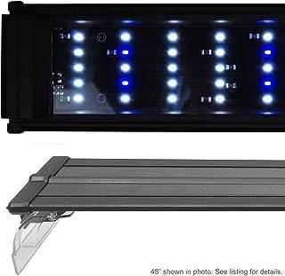 BeamsWork DA LED Aquarium Fish Tank Light White Blue Extendable Bracket Timer Ready 24 30 36 48 72