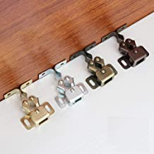 Vogueingtoool vergrendelingen, 10 stks Roller vangkast kast deurklink retro Twin dubbele vangsten met de schroeven-goud