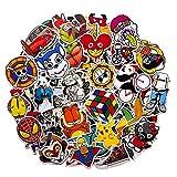 MARVELOUS Sticker [100 pcs] Stickers Vinili/Graffiti Sticker/Adesivo Casuale, per Bambini Adolescenti, Adulti, Laptop, Auto, Moto, Biciclette, Skateboard, Valigia