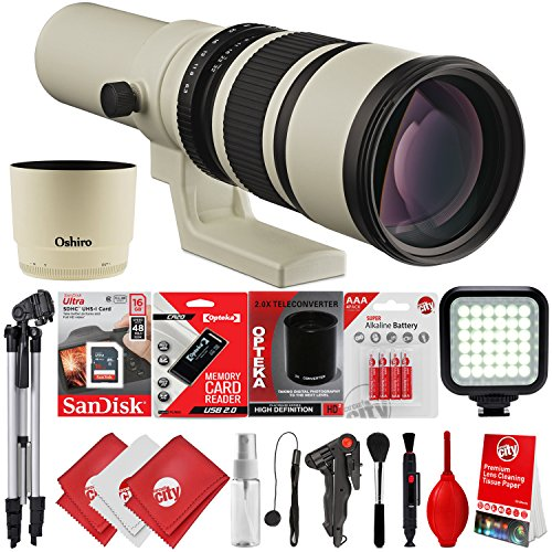 Oshiro 500mm/1000mm f/6.3 Super Telephoto Wild Life Lens for Canon EOS 80D, 77D, 70D, 60D, 7D, 6D, 5D, 7D Mark II, T7i, T6s, T6i, T6, T5i, T5, SL1 & SL2 Digital SLR Cameras -  Circuit City, circuitcity113914