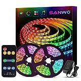 Sanwo Led Strip Lights Music Sync, 32.8 Feet Dream Color LED...
