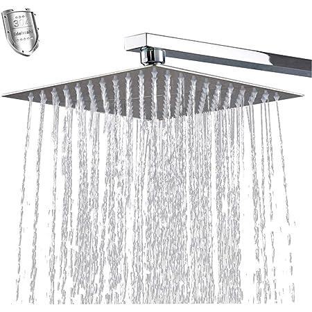 VBChome Regenbrause 20 cm mit Anti-Kalk-D/üsen Kopfbrause Spiegeleffekt Regendusche Quadratischer Einbauduschkopf Regenduschkopf d/ünn