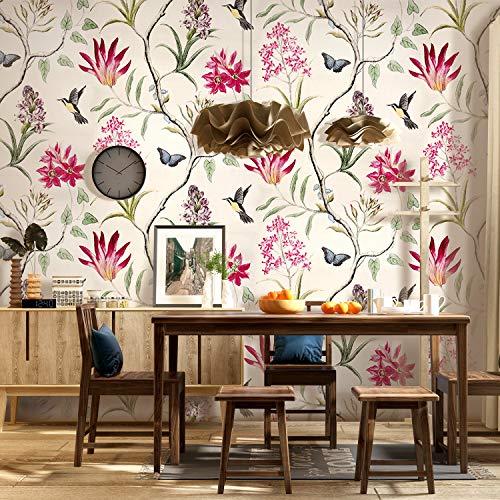 Floral Vintage Wallpaper for Livingroom Bedroom Kitchen Bathroom XC99302