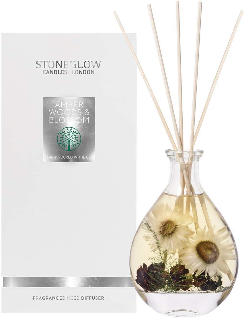 Stoneglow 送料無料 新品 Amber 超人気 専門店 Woods Blossom 200ml Diffuser Reed