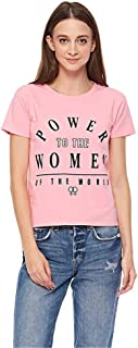 Lee Cooper Slogan T-Shirt for Women - Purple