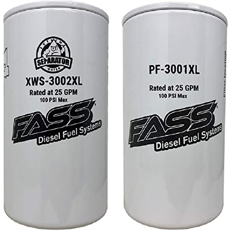 FASS Titanium Series Fuel Filter Combo Package XWS-3002XL / PF-3001XL Replaces FF-3003