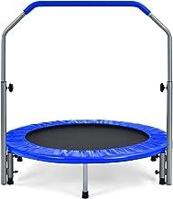 COSTWAY 101 cm Opvouwbare mini trampoline, fitness trampoline voor volwassenen en kinderen met 4 in hoogte verstelbare sch...