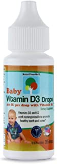 Raise Them Well- Vitamin D and K Drops for Bone and Teeth Health, 365 Servings, 0.36 fl/oz