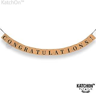 Congratulations Banner, Graduation Party Supplies - Classy Eye Catching Kraft Paper | Graduation Decorations| Graduations Banner Sign | for Achievement Party Celebrations, Retirement, Bridal Shower