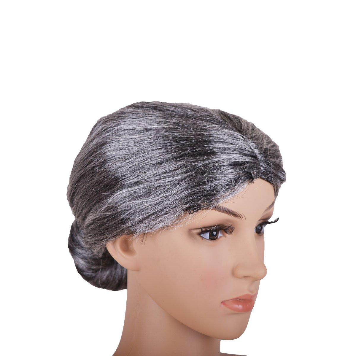 Baitaihem Grey Wig 2021 spring and summer new Granny Grandma Gray Lady Mother Old Grand El Paso Mall