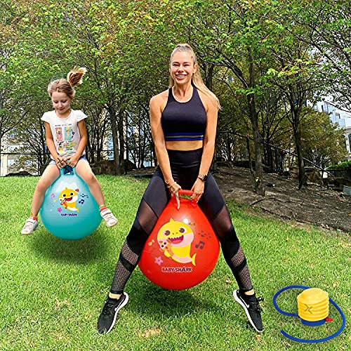 Kixre Inflatable Sit and Bounce Rubber Bubble Hop Ball for Kids - Hopping/Bouncing/Jump Balls for Child - Special Children Edition (Multicolor, Medium, Dia: 65 cm)