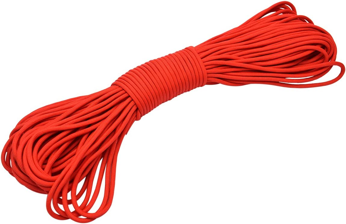 100ft Type III 7 Strand Core Parachute Paracord Red 21# 4 years warranty 550 Popular brand