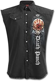 Five Finger Death Punch Game Over - Mens Stone Washed Denim Workers