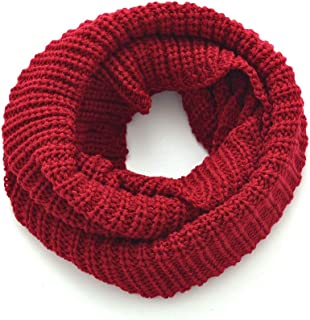 Women Winter Classic Knitted Infinity Scarves Cozy Circle Ring Loop Scarf Crochet Warm Snoods