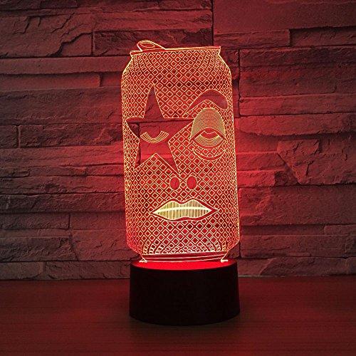 Puede dar forma al movimiento creativo del gabinete USB 3D LED Lámpara de mesa de luz nocturna Decoración de cabecera Regalo de niños
