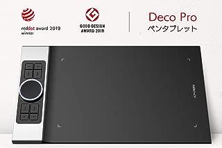 XP-Pen ペンタブ 携帯・スマホで使える傾き検知機能付きペンタブ 筆圧8192 充電不要ペン PC:Windows7以上&Mac10.10以上対応 携帯:Android6.0以上対応 ペンタブ Deco Pro Medium