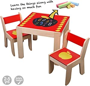 labebe Kid Activity Table  Child Table and Chair  Baby Play Table  Wooden Learning amp Dining Table for Kid  Indoor amp Outdoor Activity Table  Toddler Craft Table  Small Table and Chair for 1-5 Year Old