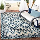 Safavieh Veranda Collection VER096-3934 Indoor/ Outdoor Area Rug, 4' x 5' 7', Turquoise/Blue