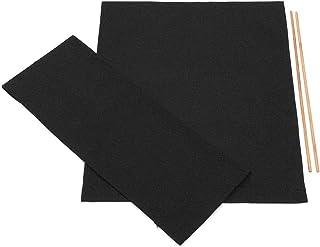 Donpow Funda de Repuesto de Lona, sillas de directores Ocasionales Kit de Cubierta Fundas de Asiento de Lona de Repuesto Protector de Taburete Negro