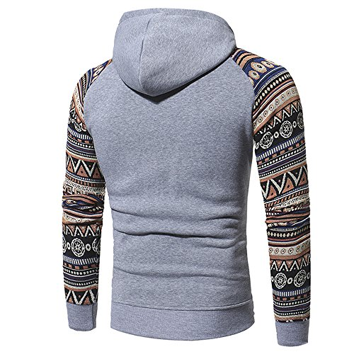 PRJN Men's Hoodies Sweatershirt Ethnic Style Geometric Folk Design 3D Printing Long Sleeve Casual Sweatershirt Tops Men's 3D Printed Long Sleeve Hoodies Cool Jacket Sweatshirts with Big Pockets