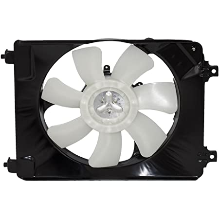 Passengers A/C AC Condenser Cooling Fan Assemby Replacement for Honda 1.8L 38616-RNA-A01 38611-RNA-A01