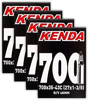 Kenda 700x35-43c 48mm Presta Valve Bike Tube Bundle - Four (4) Pack