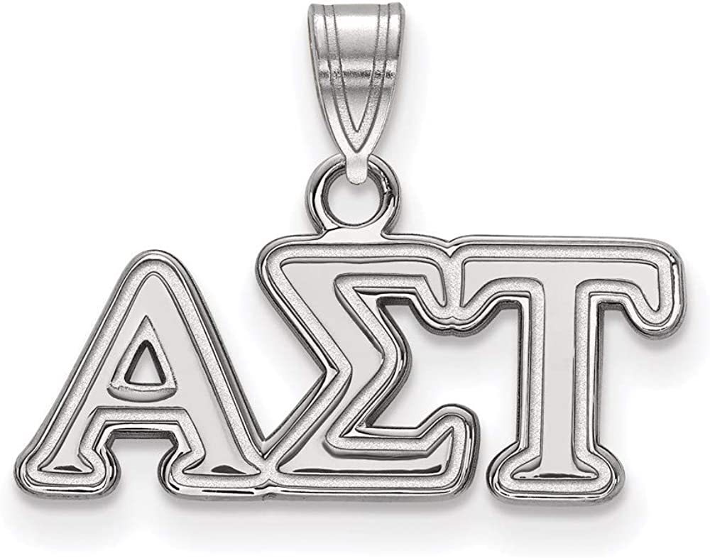 Charm Pendant White Sterling In a popularity Silver Trust Greek Alpha 15 Sigma Tau mm