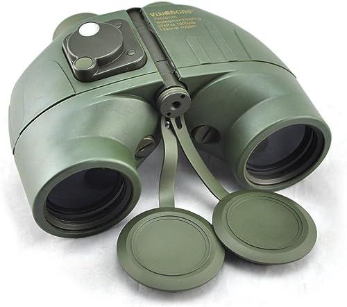 Visinking flottant 7 x 7 x 50 Jumelles étanche avec boussole & Range Finder Marine Couleur Vert