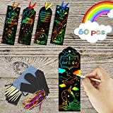 KOMIWOO Art Supplies for Kids, 60Pcs Crafts Bookmarks for Teacher and Students, Arts and Crafts for Grils Gifts, Christmas and Birthday Party Favor for School and Classroom