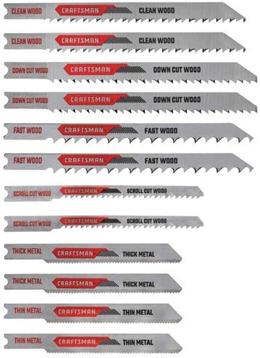CRAFTSMAN Jigsaw Blades At the price U-Shank 12-Piece CMAJ2SET12 Set Daily bargain sale