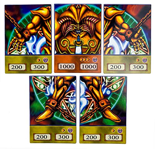 Orica Karten-Set: Complete Exodia Set Common Karten im Yugioh! Anime Design | inkl. 100 Arkero-G Small Card Sleeves