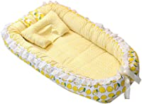 Newborn Baby Lounger Bed,Newborn Baby Bassinet,Portable Multifunctional Super Soft and Breathable Cotton Co-Sleeping Baby Bed,90cm?55cm,A