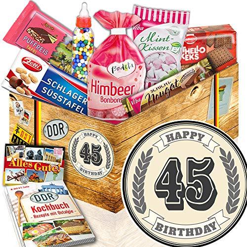 45. Geburtstag Geschenk / Süßes Ostpaket / Geschenk zum 45 Geburtstag Mann Deko