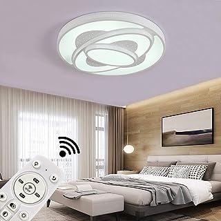 JINPIKER Lámpara de techo 60W Regulable Luz de techo LED Carcasa blanca Ahorro de energía Sala de estar Cocina Baño para pasillo Dormitorio Luces de techo