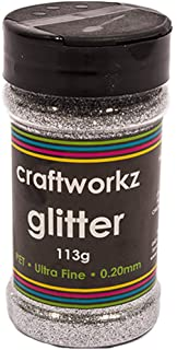 Ultra Fine Silver Craft Glitter 113g One Size