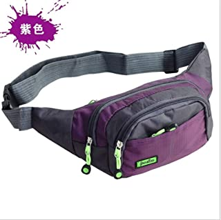 YWSCXMY-AU New Bag Canvas Unisex Fanny Pack Waist Travel Running Sport Waterproof (Color : Purple)