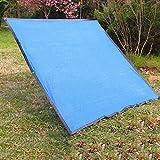 ZYCH Cerrar Tamaño Opcional Toldo Vela de Sombra Rectángulo Cuadrado Sun Shade Net Patio Exteriores Jardín Toldo Velas de Sombra Protección Rayos UV Refugio de Cobertura Vegetal, Azul Regalo