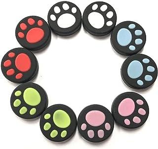 Capa de silicone estilo pata de gato da KenSera para o polegar e as capas de joystick, adequada para Nintendo Switch NX NS...