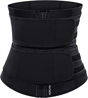 HOPLYNN Neoprene Sweat Waist Trainer Corset Trimmer Belt for Women Weight Loss, Waist..