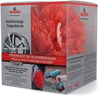 Nigrin 72974 Performance Hochleistungs Felgenbürste, Twister Reinigungsbürste für Autofelgen, mit 2.000 Hochleistungs Reinigungsborsten