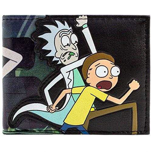 Cartera de Rick and Morty Científico Loco Borracho Negro