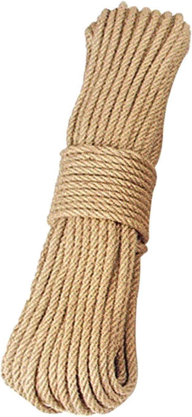8mm Gorgeous Natural Jute Rope Twine 3m-50m Hemp New item Twisted Macram Cord