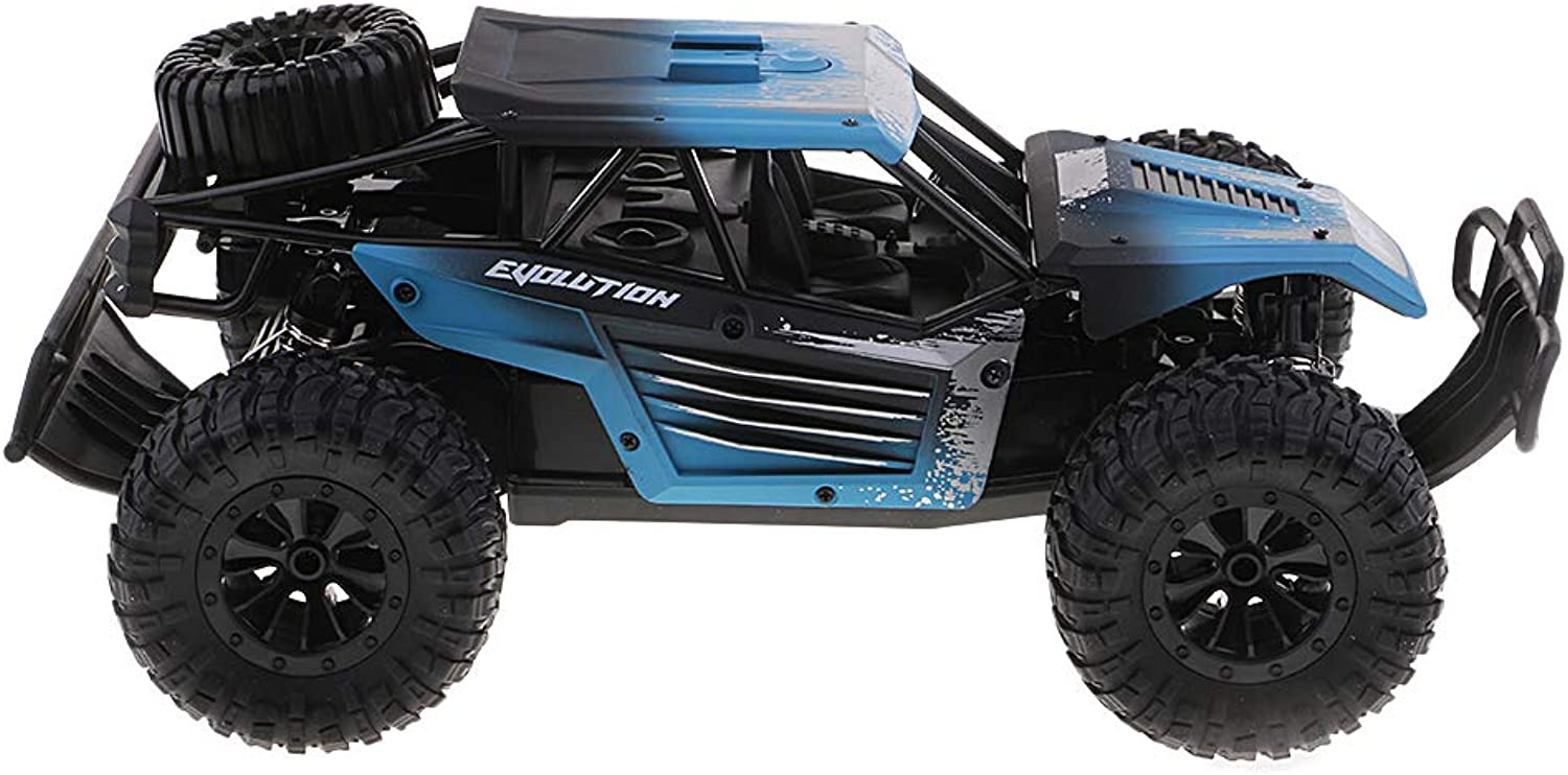D DOLITY 2.4G 1 18 Scale High Speed RC Remote Control Car Model Big Foot Truck bluee