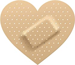 Divine Designs Heart Shaped Bandage Wound Nude Brown White Vinyl Decal Sticker Two in One Pack (4 Inches Wide)