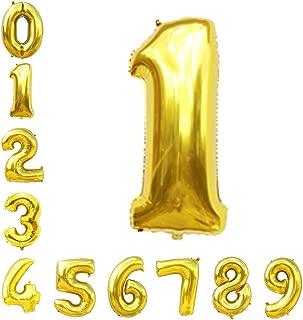 Gold Number Balloons 40inch Helium Birthday Balloons Foil Mylar Digital Balloons for Birthday Engagement Wedding Bridal Shower Anniversary of 2019 BALLOON (1)