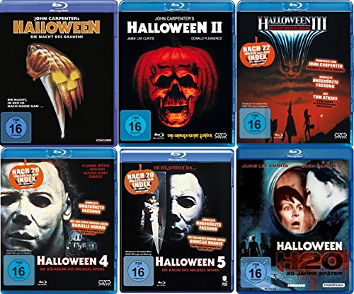 HALLOWEEN Edition Teil 1 2 3 4 5 H20 Michael Myers Collection 6 BLU-RAY Neu