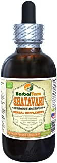 Shatavari (Asparagus Racemosus) Tincture, Organic Dried Root Powder Liquid Extract (Brand Name: HerbalTerra, Proudly Made in USA) 4 fl.oz (120 ml)